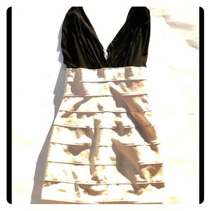 Maria Bianca Nero Bodycon Dress Blk & Wht Sz M